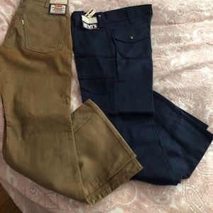Levi's 2 pair.  Corduroy and cotton.
